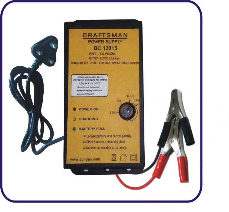 SMPS Battery charger – 12V, 1.5A | Craftsmans Electric